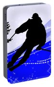 Downhill On The Ski Slope  Portable Battery Charger