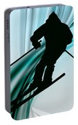 Downhill Skiing On Icy Ribbons Portable Battery Charger