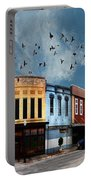 Downtown Bryan Texas 360 Panorama Portable Battery Charger by Nikki Marie Smith