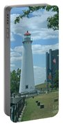 Downtown Detroit Lighthouse Portable Battery Charger