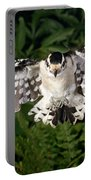 Downy Woodpecker In Flight Portable Battery Charger
