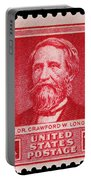 Dr Crawford W Long Postage Stamp Portable Battery Charger