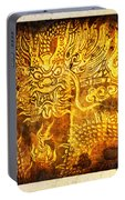 Dragon Painting On Old Paper Portable Battery Charger