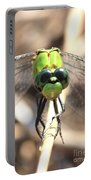 Dragonfly Perspective Portable Battery Charger by Carol Groenen