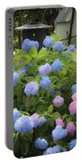 Dreamy Blue And Pink Hydrangeas Portable Battery Charger
