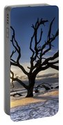 Driftwood Beach At Dawn Portable Battery Charger
