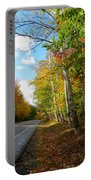 Driving Though The Birches Portable Battery Charger