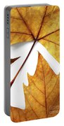Dry Leafs Portable Battery Charger by Carlos Caetano