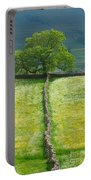 Dry Stone Wall And Lone Tree Portable Battery Charger