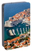 Dubrovnik Old City Aerial View Portable Battery Charger