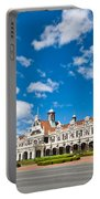 Dunedin Railway Station During A Sunny Day  Portable Battery Charger