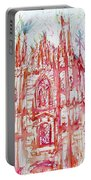 Duomo City Of Milan In Italy Portrait Portable Battery Charger