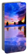 Dusk At Cannon Beach Portable Battery Charger