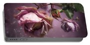 Dusky Pink Roses Portable Battery Charger