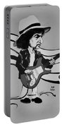 Dylan In Black And White Portable Battery Charger