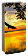 Eagle At Sunset Portable Battery Charger