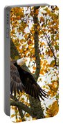 Eagle In Autumn Portable Battery Charger