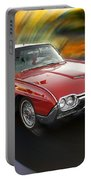 Early 60s Red Thunderbird Portable Battery Charger