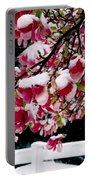 Early Magnolia Late Snow Portable Battery Charger