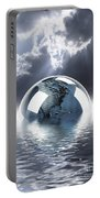 Earth Globe Reflection Portable Battery Charger