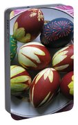 Easter Eggs. Plant Print And Wax Drawing. Portable Battery Charger
