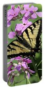Canadian Tiger Swallowtail On Phlox Portable Battery Charger