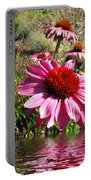 Echinacea In Water Portable Battery Charger