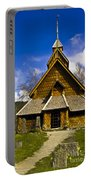 Eidsborg Stave Church  Portable Battery Charger by Heiko Koehrer-Wagner