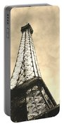 Eiffel Tower At Dusk Portable Battery Charger