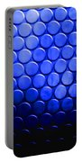 Electric Blue Circle Bumps Portable Battery Charger