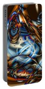 Electric Blue Portable Battery Charger by Ron Bissett