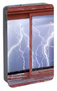 Electric Skies Red Barn Picture Window Frame Photo Art  Portable Battery Charger