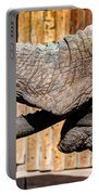 Elephant Feeding Time At The Zoo Portable Battery Charger