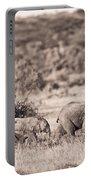 Elephants Walking In A Row Samburu Kenya Portable Battery Charger