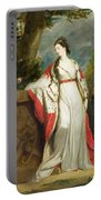 Elizabeth Gunning - Duchess Of Hamilton And Duchess Of Argyll Portable Battery Charger by Sir Joshua Reynolds