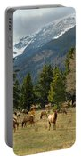 Elk In The Rockies Portable Battery Charger