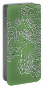 Embossed Roses Portable Battery Charger by Will Borden