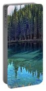 Emerald Mountain Pond Portable Battery Charger