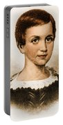 Emily Dickinson, American Poet Portable Battery Charger by Photo Researchers