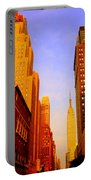 Empire State Building Sunset Portable Battery Charger