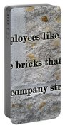 Employee Service Anniversary Thank You Card - Cement Wall Portable Battery Charger