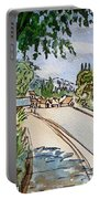 Empty Road Sketchbook Project Down My Street Portable Battery Charger by Irina Sztukowski