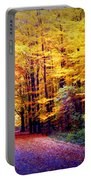 Enchanted Fall Forest Portable Battery Charger by Carol Groenen