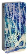 Enchanted Winter Forest Portable Battery Charger