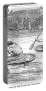 England: Coracle Race, 1881 Portable Battery Charger