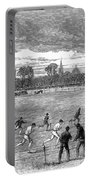 England: Foot Race, 1866 Portable Battery Charger