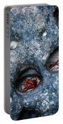 Eroded Rock With Dried Leaves Portable Battery Charger