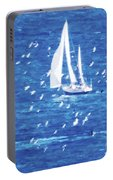 Escorted By Seagulls Portable Battery Charger