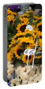 European Markets - Sunflowers And Roses Portable Battery Charger