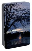 Evening Falls On Youth's Fountain Portable Battery Charger